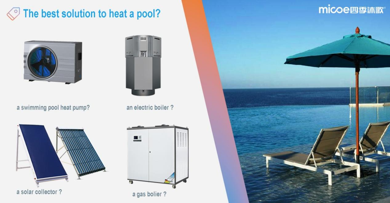 What is the best solution to heat a swimming pool?