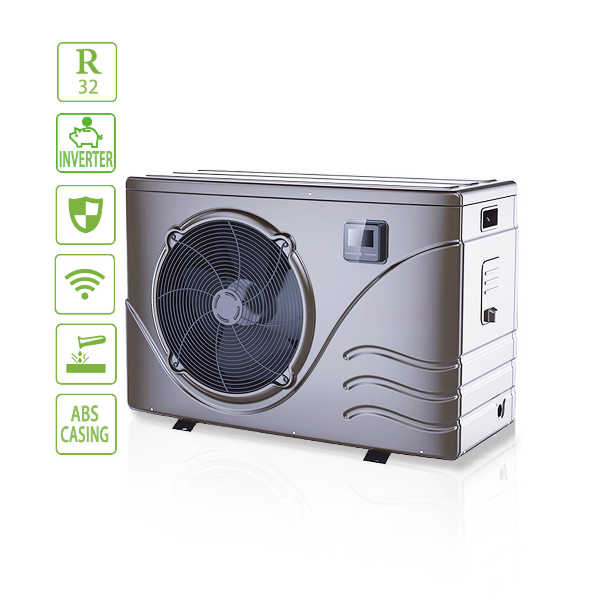 Low Energy Consumption Eco Inverter Swimming Pool Heat Pump